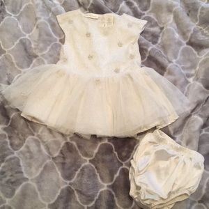 2-Piece Tutu Dress Set with Diaper Cover